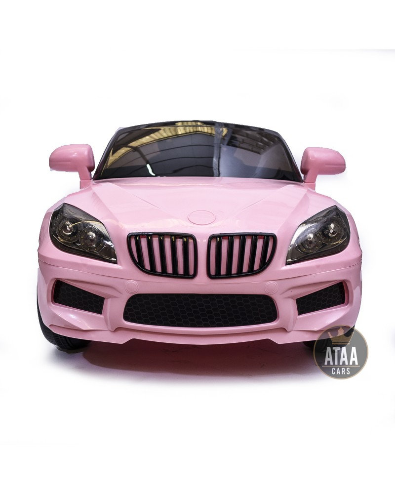 coche-electrico-para-ninos-barato-serie-5-berlina-12v-rosa