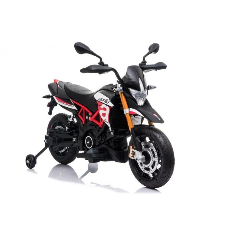 moto-electrica-para-ninos-12-aprilia-dorsoduro-licencia-oficial-negra