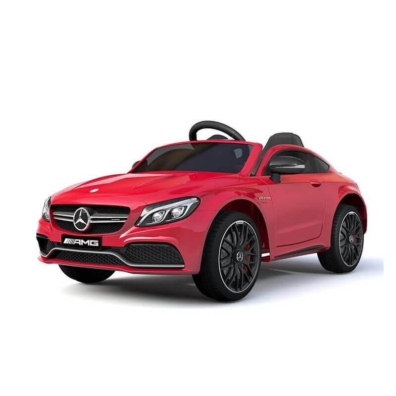 coche-electrico-para-ninos-mercedes-c63-con-licencia-oficial-bateria-12v-rojo