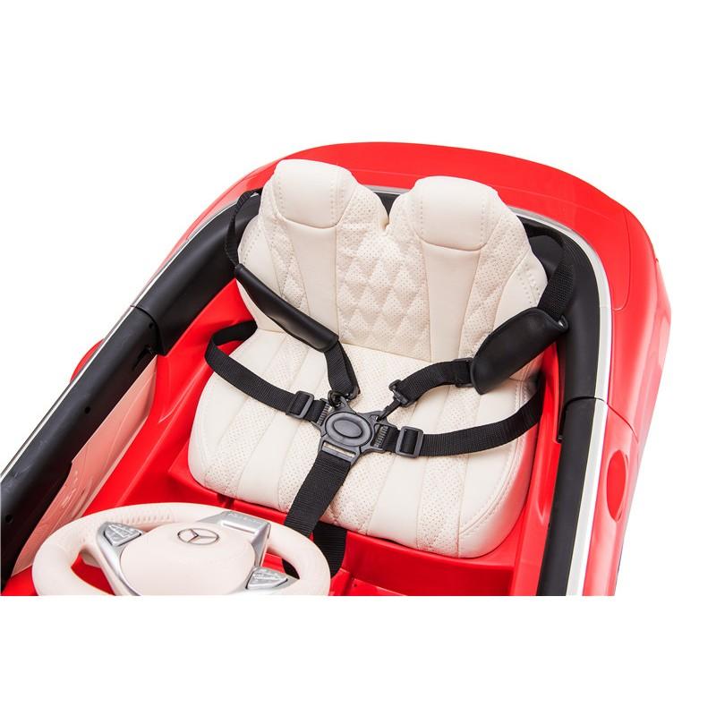 coche-electrico-para-ninos-mercedes-maybach-s650-12v-licencia-oficial-cinturon-arnes-rojo