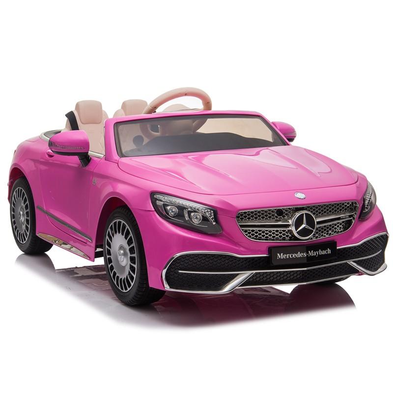 coche-electrico-para-ninos-mercedes-maybach-s650-12v-licencia-oficial-rosa