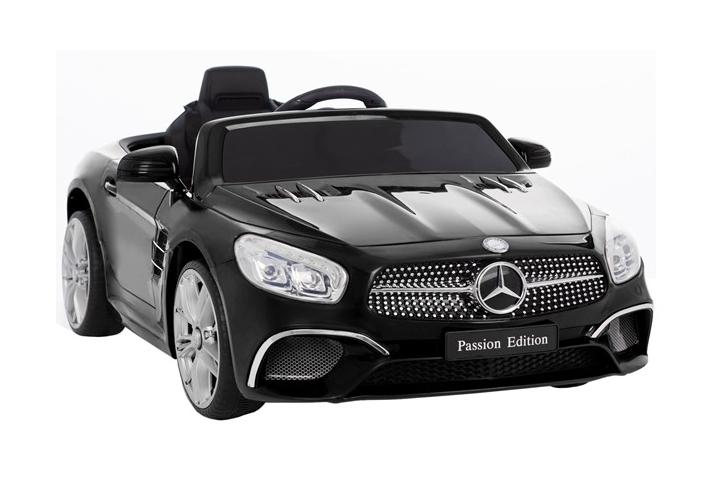 coche-electrico-para-ninos-mercedes-sl400-bateria-12v-cinturón-arnés-licencia-oficial-negro