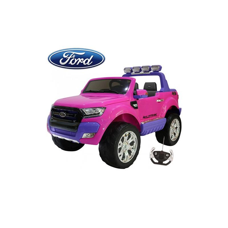 coche-electrico-para-ninos-ford-ranger-luxury-12v-licencia-oficial-mp4-rosa