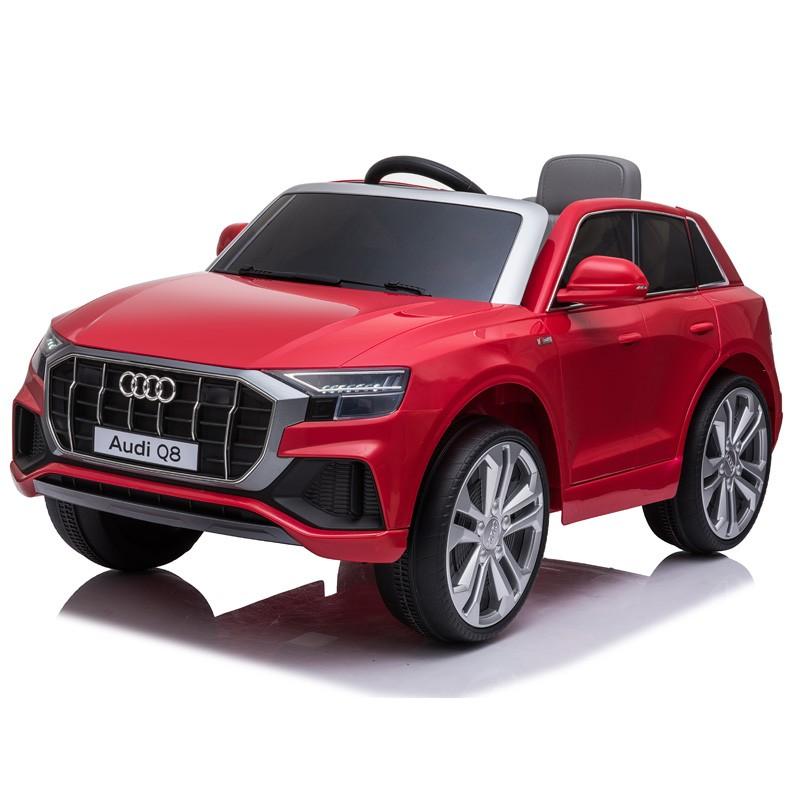 coche-eléctrico-para-ninos-Audi-Q8-licencia-oficial-rojo
